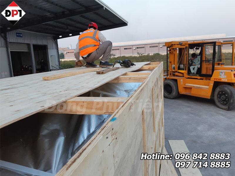 đóng thùng gỗ cho hàng siêu trường siêu trọng