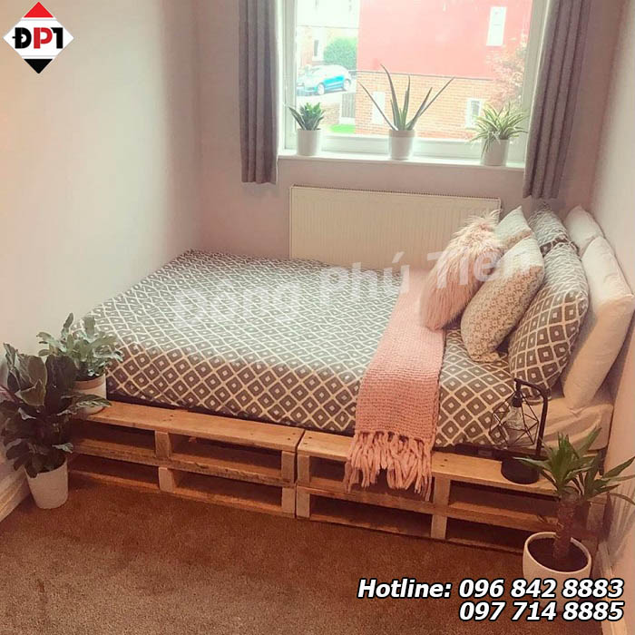 giường gỗ pallet đẹp
