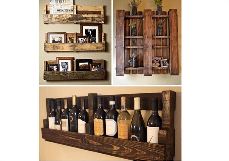 Kệ gỗ đựng rượu