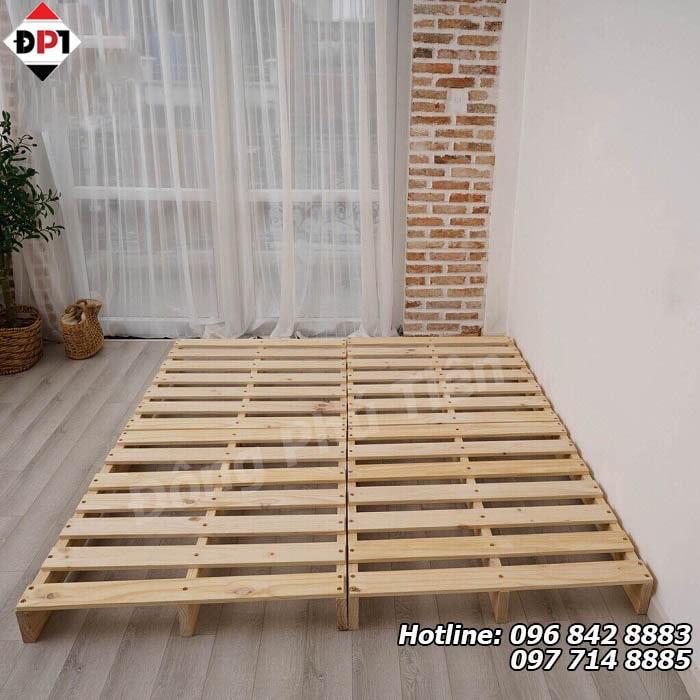 khung giường pallet gỗ