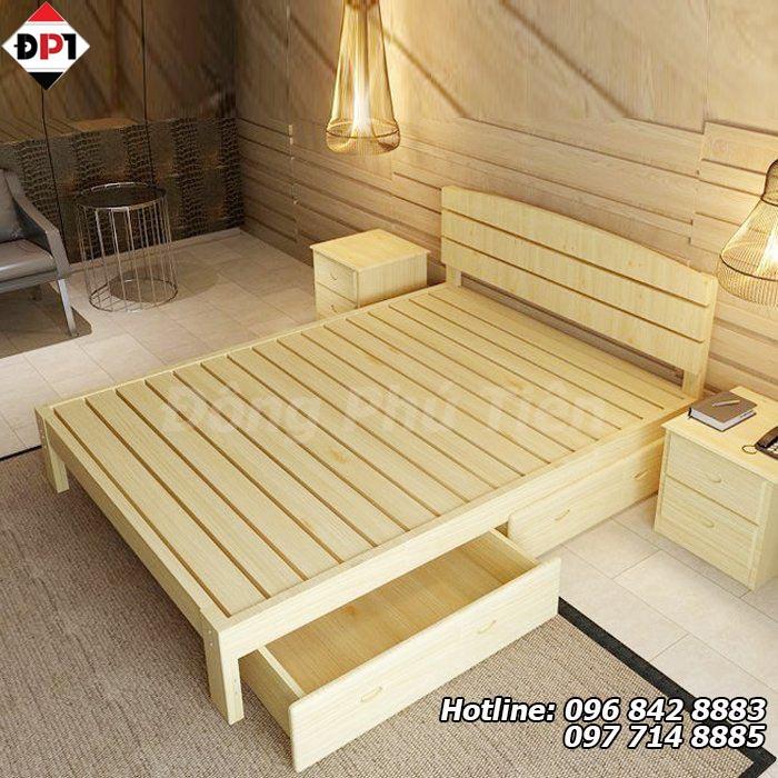 làm giường bằng pallet gỗ