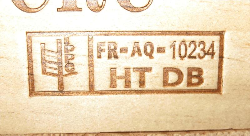 Trên các thanh gỗ sẽ được đóng dấu Ispm 15 theo từng cách khử trùng
